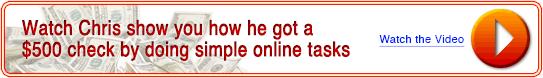 How Chris got his money online